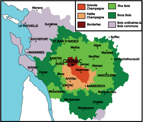 Cognac Map