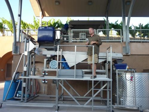 Ken Burns, consulting winemaker, describing the winemaking equipment