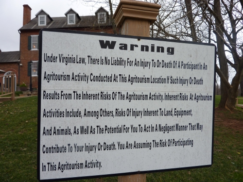 agritourism warning