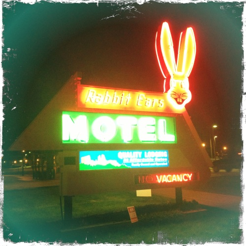 This is where we stayed.  One of the best motel logos I've ever seen.