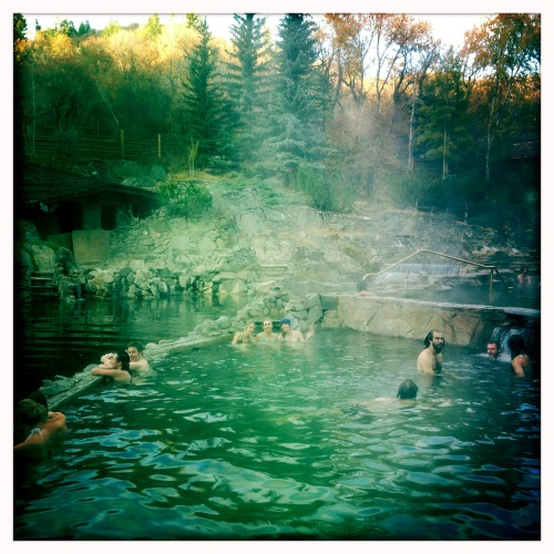 Our next stop was Strawberry Park Hot Springs.