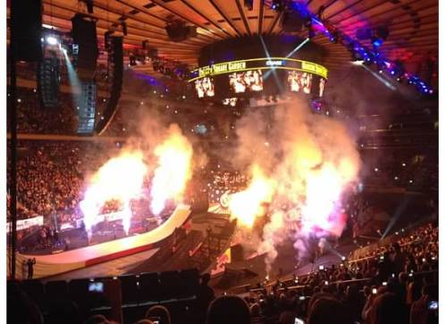 Indoor fireworks at one of NYC's most recognizable venues.  Yes, please!