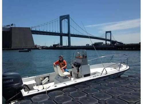 We trained on 18-20 ft. center console boats.  The docking practice was particularly useful and the high speed maneuvers were quite fun.  The 10 year old in the class (pictured here) made me feel like less of a badass.