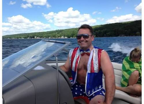 We bought Bri-guy a very patriotic outfit for the holiday.  He wore it with pride.