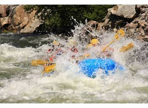 We went with Clear Creek Rafting Co. on a half-day trip through class III and IV rapids.